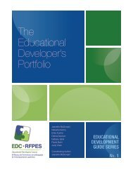 The Educational Developer's Portfolio