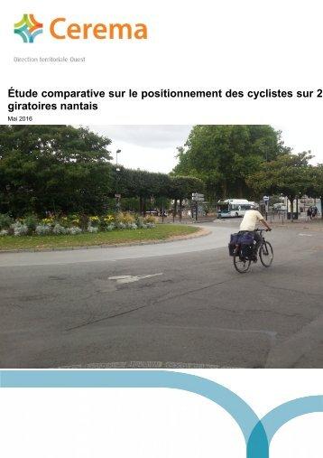 Étude comparative sur le positionnement des cyclistes sur 2 giratoires nantais