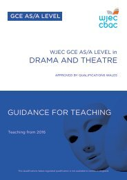 DRAMA AND THEATRE GUIDANCE FOR TEACHING