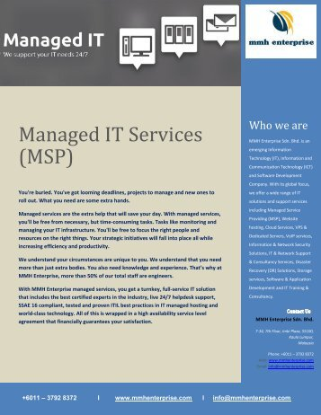 Managed IT Services (MSP)