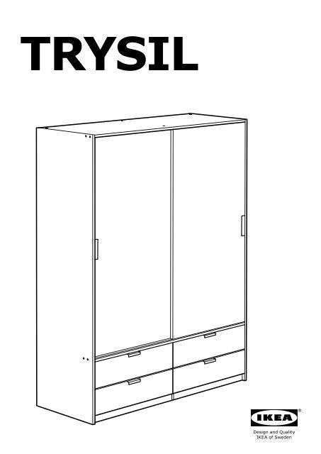 Montaggio Ante Scorrevoli Ikea.Montaggio Armadio Trysil Ikea