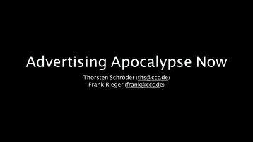 Advertising Apocalypse Now