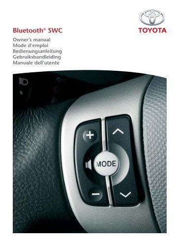 Toyota Bluetooth SWC English French German Dutch Italian - PZ420-00291-ME - Bluetooth SWC English French German Dutch Italian - mode d'emploi