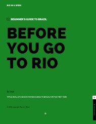 BEFORE YOU GO TO RIO