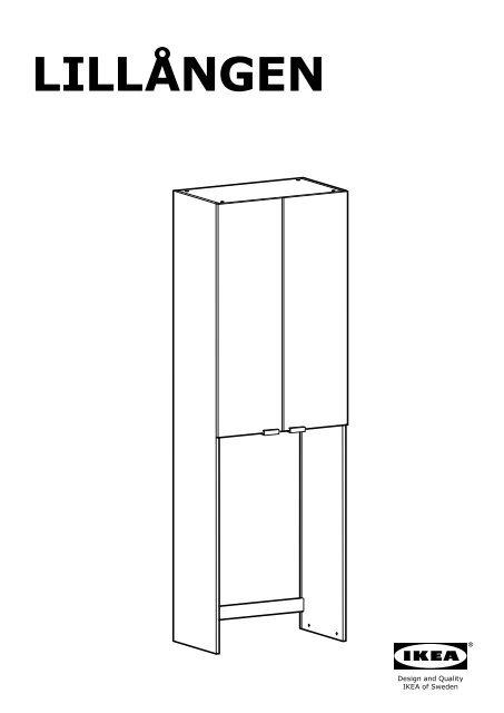 Ikea Lillången Mobile Per Lavatrice 00206096 Istruzioni Montaggio