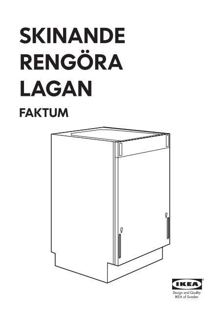 Ikea Lagan Lavastoviglie Integrata 00299378 Istruzioni Di Montaggio