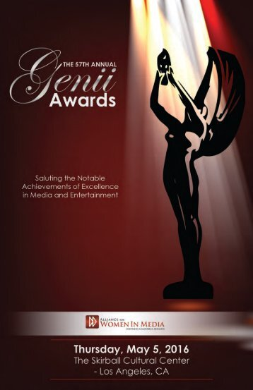 Genii Awards Program Book