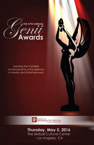 Genii Awards Program Book