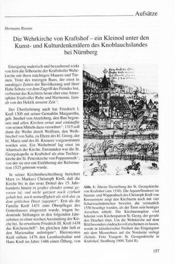 Rusam, Hermann: Die Wehrkirche von Kraftshof - ein Kleinod
