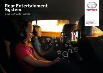 Toyota Rear Entertainment System - PZ462-00207-00 - Rear Entertainment System - Swedish - mode d'emploi