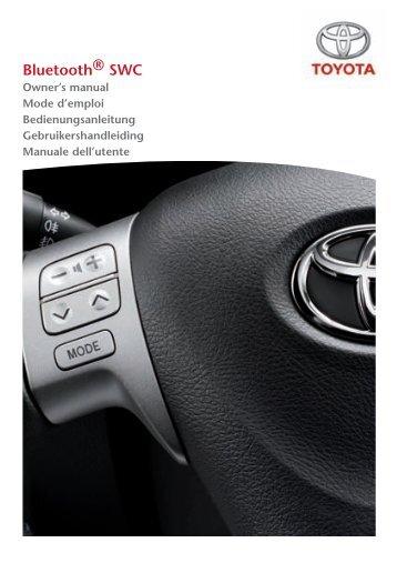 Toyota Bluetooth SWC English French German Dutch Italian - PZ420-00296-ME - Bluetooth SWC English French German Dutch Italian - mode d'emploi