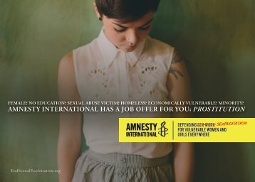 AMNESTY INTERNATIONAL HAS A JOB OFFER FOR YOU PROSTITUTION