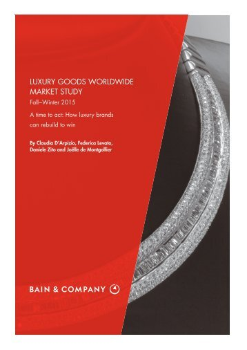 luxury goods worldwide market study 201