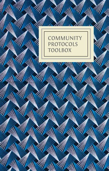 COMMUNITY PROTOCOLS TOOLBOX