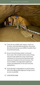 Caving Guidelines - Page 6