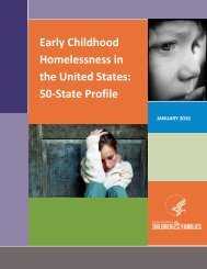 Early Childhood Homelessness in the United States 50-State Profile