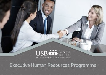 Executive Human Resources Programme