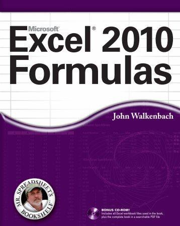 Excel 2010 Fomulas