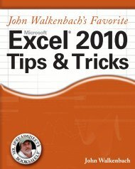 Excel 2010 Tips and Tricks