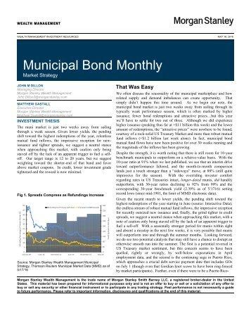 Municipal Bond Monthly