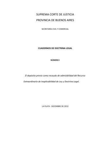 Doctrina legal SCBA