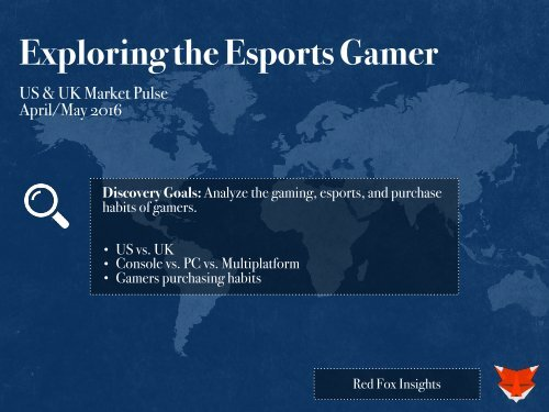 Exploring the Esports Gamer