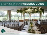 Tips to Choose a Wedding Venue
