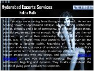 Sensual Hyderabad Escorts Services by Hot Girls