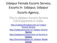 Udaipur Female Escorts Service, Escorts In  Udaipur