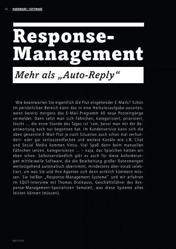 Response- Management