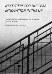 NEXT STEPS FOR NUCLEAR INNOVATION IN THE UK