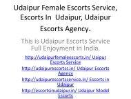 Udaipur Female Escorts Service, Escorts In  Udaipur