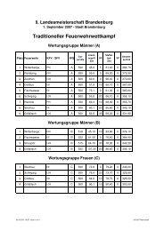 8. Landesmeisterschaft Brandenburg - KFV-OSL