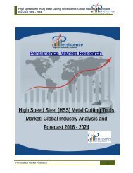 High Speed Steel (HSS) Metal Cutting Tools Market