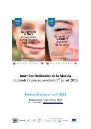 Journées Nationales de la Macula Du lundi 27 juin au vendredi 1 juillet 2016
