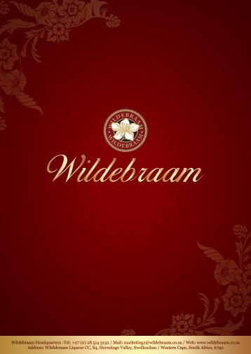 Wildebraam Catalogue 2016 - low res