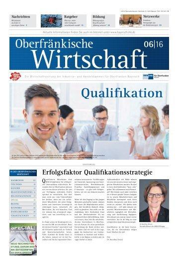 Oberfränkische Wirtschaft Ausgabe 6.2016