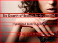 No Dearth of Escorts in Hyderabad