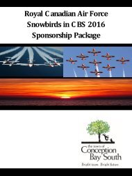 Royal C anadian Air Force Snowbirds in C BS 2016 Sponsorship Package