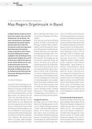 Max Regers Orgelmusik in Basel