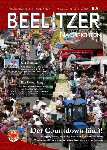 Beelitzer Nachrichten - Mai 2016