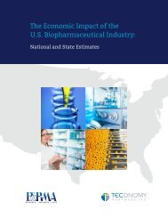 The Economic Impact of the U.S Biopharmaceutical Industry
