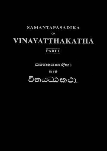 01-vinayatthakatha
