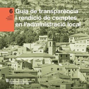 Guia de transparència i rendició de comptes en l'administració local