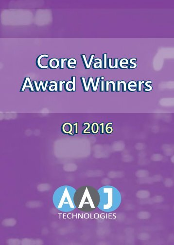 Core Values Winners Q1 2016