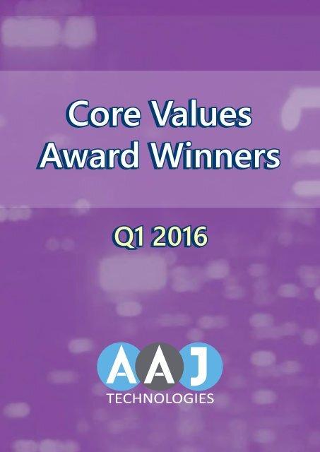 Core Values Winners Q1 2016