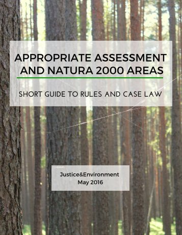 ASSESSMENT APPROPRIATE NATURA 2000 AREAS AND