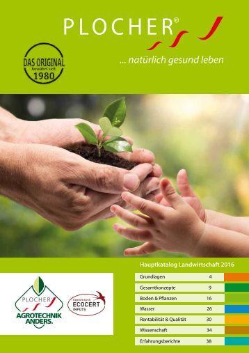 PLOCHER agrotechnik Katalog 2016 CH JUAG