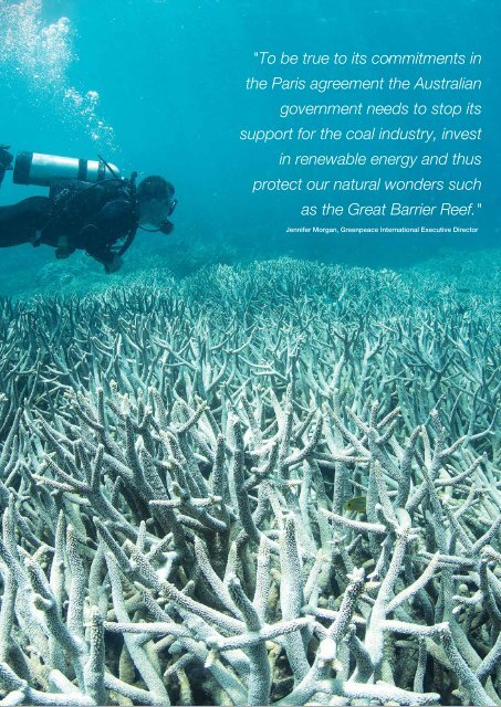 Exporting climate change killing the Reef
