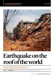 Earthquake on the roof of the world